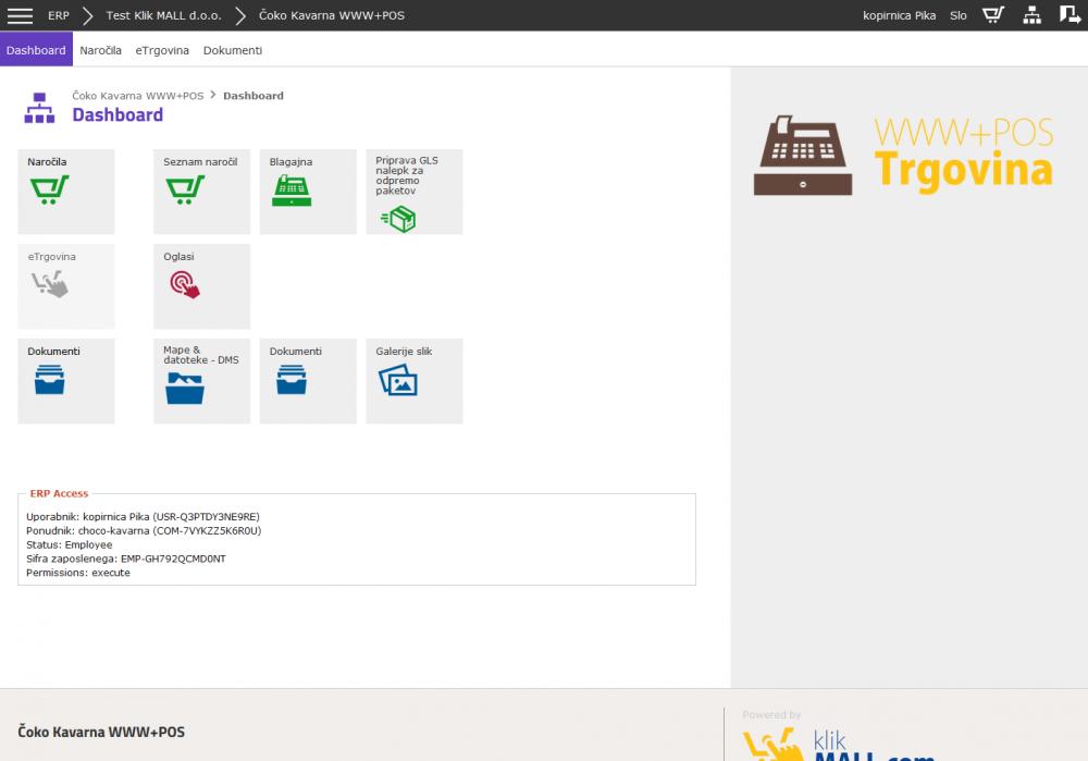 Omejitev dostopa samo na določene module glede na status uporabnika