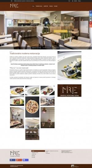 Uvodna stran Restavracije Mirje - celotna
