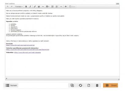 TinyMCE editor - pred posodobitvijo